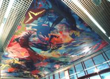 """Garden of Delights""  Charing Cross Hospital Ceiling mural"