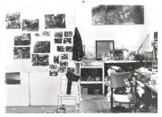 In studio at Baldwins Gardens, shared with Graham Crowley, Vanessa Jackson and others c. 1982